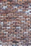 Parede de tijolo vermelha velha do grunge Fotos de Stock