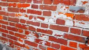 Parede de tijolo vermelho vídeos de arquivo