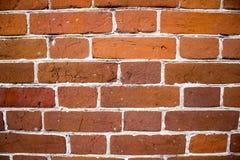 A parede de tijolo vermelho Fotos de Stock Royalty Free