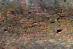 Parede de tijolo vermelho-alaranjada velha, fundo, textura 26 imagem de stock