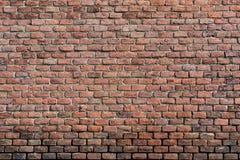 Parede de tijolo vermelho-alaranjada velha, textura do fundo fotografia de stock royalty free