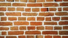 Parede de tijolo vermelho com emenda branca fotos de stock