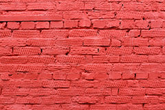 Parede de tijolo vermelho com testes padrões Foto de Stock Royalty Free