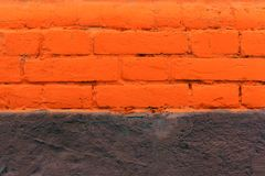 Parede de tijolo vermelho como um fundo agradavelmente textured foto de stock