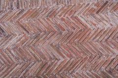 Parede de tijolo vermelho diagonal Imagens de Stock