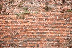 Parede de tijolo vermelho do vintage Fotos de Stock