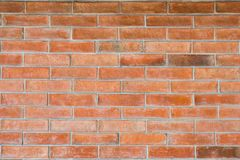 Parede de tijolo vermelho para a textura fotos de stock royalty free