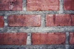 Parede de tijolo vermelho para a textura ou o fundo Fotografia de Stock Royalty Free