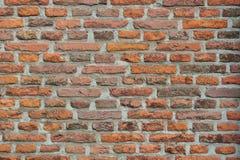 Parede de tijolo vermelho velha Imagens de Stock