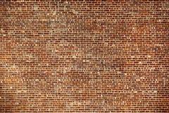 A parede de tijolo vermelho velha Imagens de Stock Royalty Free