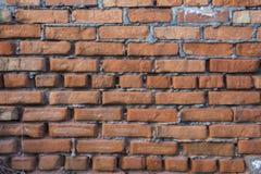 Parede de tijolo vermelho velha Fotografia de Stock