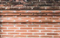 Parede de tijolo vermelho velha do grunge Foto de Stock Royalty Free