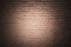 Parede de tijolo vermelho velha, fundo liso frontal imagem de stock