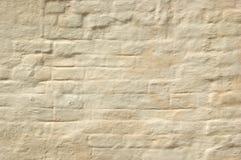 A parede de tijolo whitewashed imagens de stock