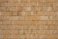 Parede de tijolos do ocre Fotos de Stock Royalty Free