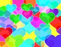 Parede de tijolos dos corações Fotografia de Stock