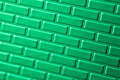 Parede de tijolos metálicos Fotos de Stock