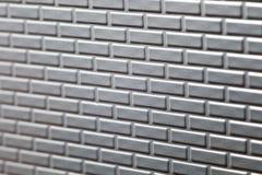Parede de tijolos metálicos Imagens de Stock Royalty Free