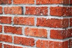 Parede de tijolos vermelhos Fotografia de Stock Royalty Free