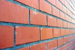 Parede de tijolos vermelhos Imagens de Stock Royalty Free