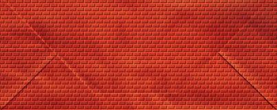 Parede de tijolos vermelhos Imagens de Stock