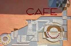 Parede de um café Imagens de Stock