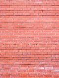 Parede de um tijolo da argila vermelha Fotos de Stock