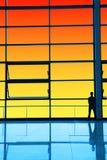 Parede de vidro dianteira, prestando atenção ao cenário Fotografia de Stock Royalty Free