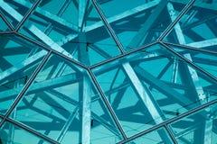 Parede de vidro e de aço Fotografia de Stock