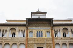 Parede decorada do palácio do Alcazar Imagem de Stock Royalty Free