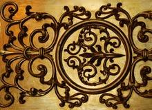 Parede decorativa dourada Imagem de Stock Royalty Free