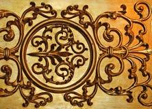 Parede decorativa dourada Foto de Stock