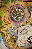 Parede dedicada ao Beatles Fotografia de Stock