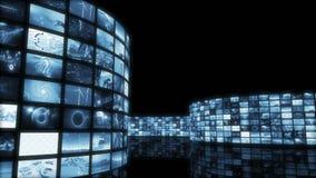 Parede desenrolando-se animado do vídeo do entretenimento Laço-capaz 3D que rende 4k video estoque
