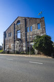Parede dianteira de construção do colapso   Fotografia de Stock