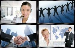 Parede digital da tela da notícia video futurista da tevê imagem de stock royalty free