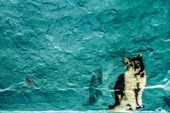 Parede do azul de Chafchaouen Imagem de Stock Royalty Free