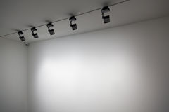 Parede do branco da exposição Foto de Stock