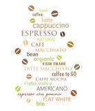 Parede do café ilustração stock