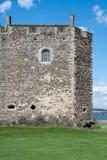 Parede do castelo da obscuridade fotografia de stock royalty free