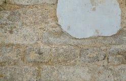Parede do cimento da corrosão foto de stock