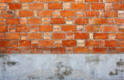 Parede do cimento do tijolo imagem de stock royalty free