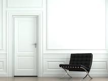 Parede do clássico do projeto interior foto de stock