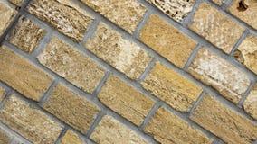 A parede do coquina amarelo obstrui o close up Fotografia de Stock
