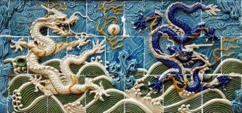 Parede do dragão foto de stock