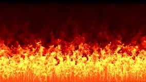 Parede do fogo video estoque