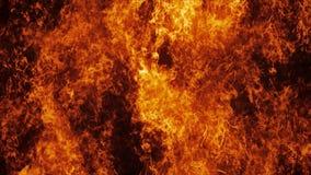 Parede do fogo do inferno no movimento lento ilustração stock