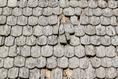 Parede do fundo das telhas de madeira velhas Imagem de Stock