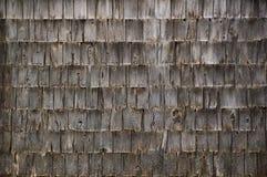 A parede do fundo do cedro cinzento resistido áspero agita telhas imagem de stock