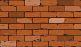 Parede do fundo sem emenda do tijolo vermelho Vetor Fotos de Stock
